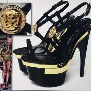 Versace Tripple Platform Medusa Sandals 39/9 NWT